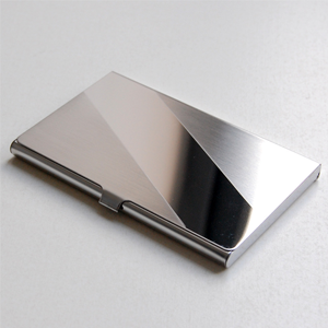 logo engraved business card holder featuring your initials