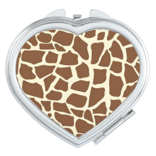 giraffe epoxy resin compact mirror for zoo animal protection gifts