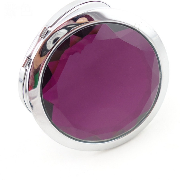 Jewelry engravable pocket mirrors with 58mm glass convert