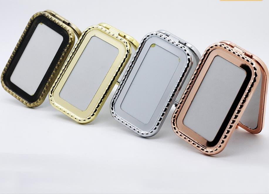 Rectangle Blank Pocket Mirror for Thailand Souvenirs