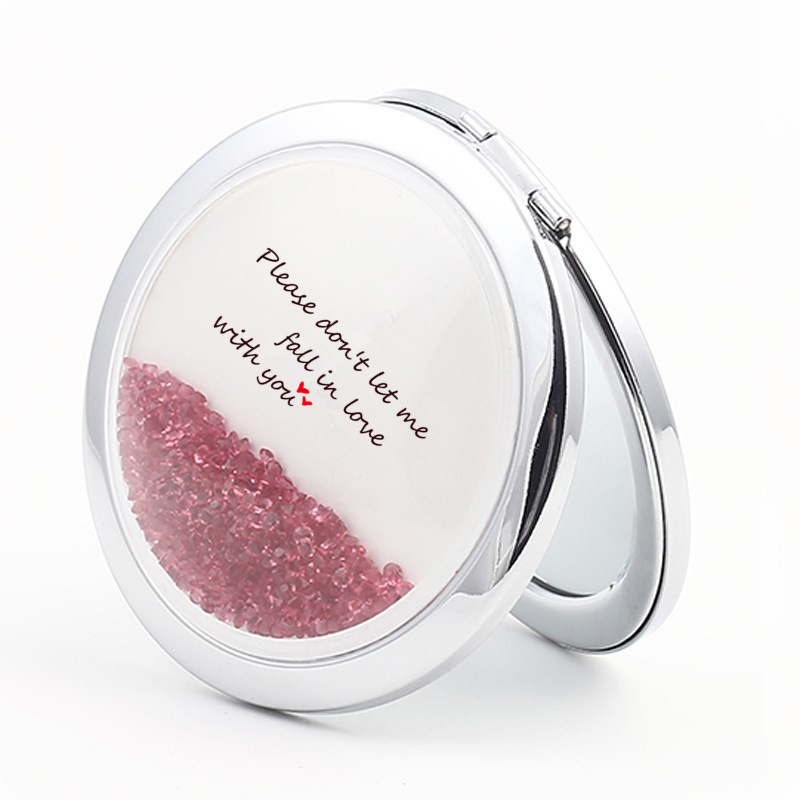 flowing crystal compact mirror for bridesmaids for sale in US