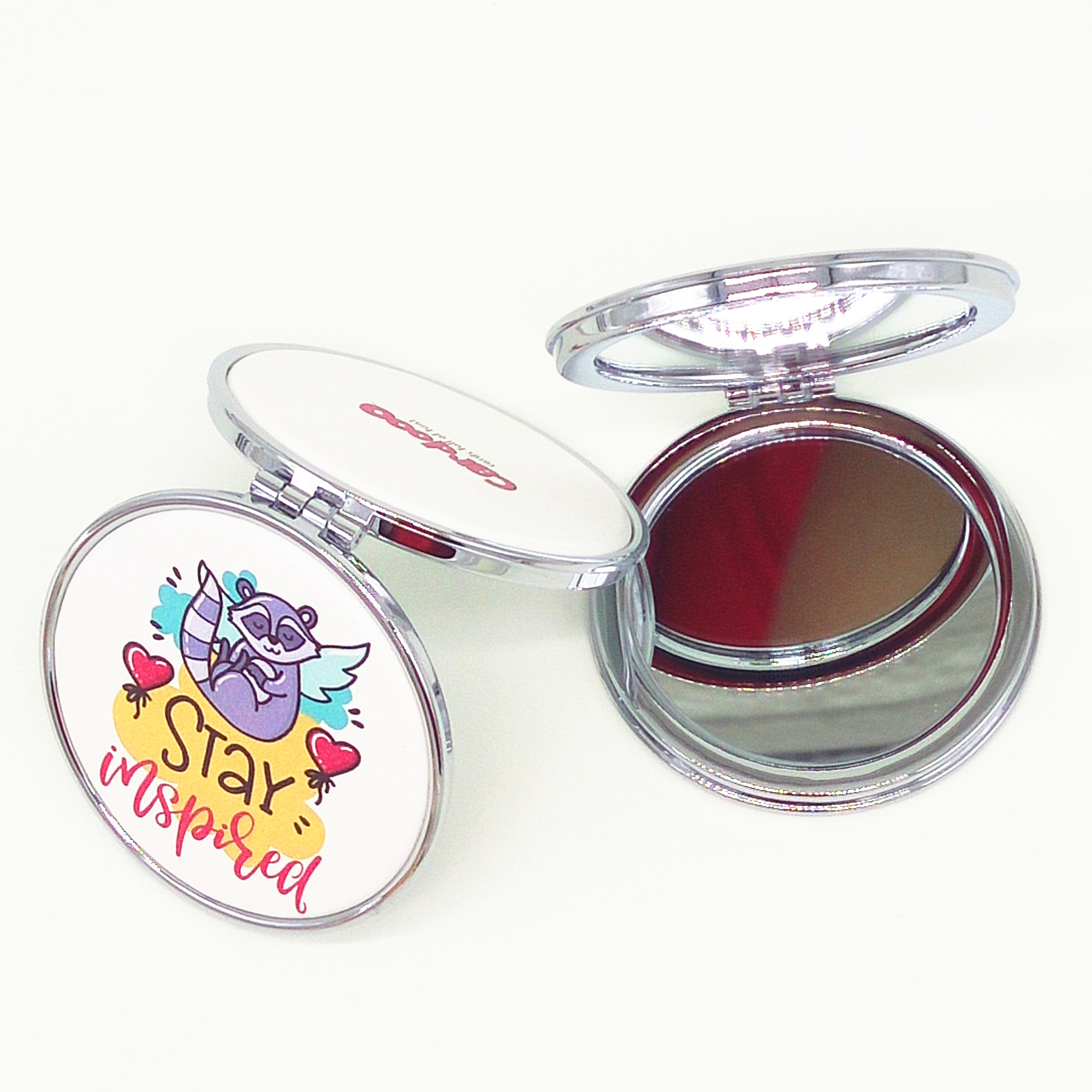 perfect compact mirror for gift bags with printed PU leather for craft