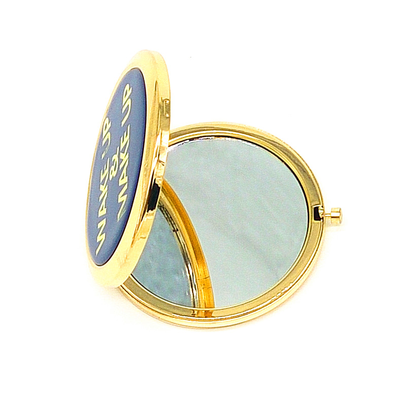 gold stamping logo Purse compact Mirror outlet in bulk UK