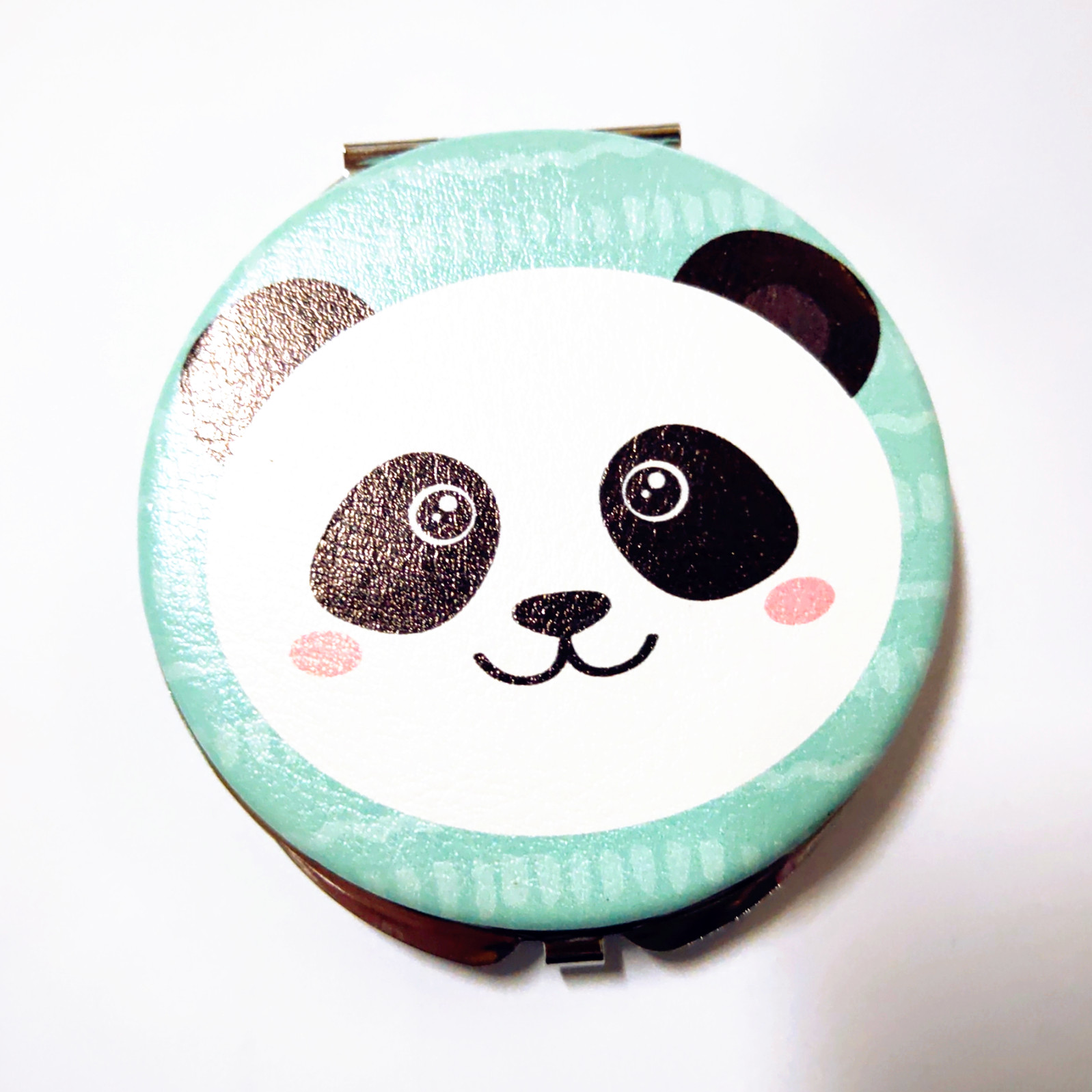 custom printed PU compact mirror on both sides for purse Canada
