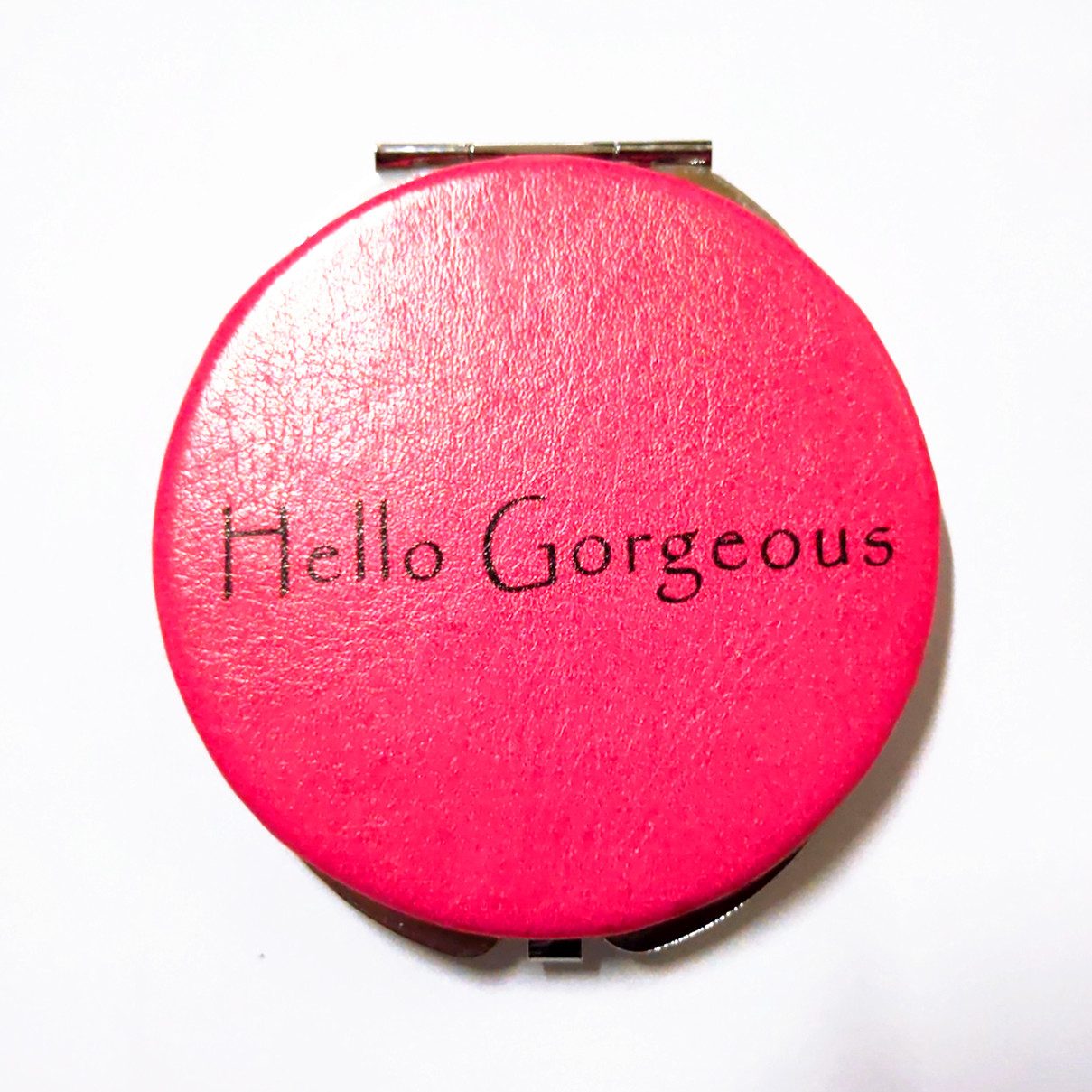 custom design Crocodile pattern leather compact mirror for her