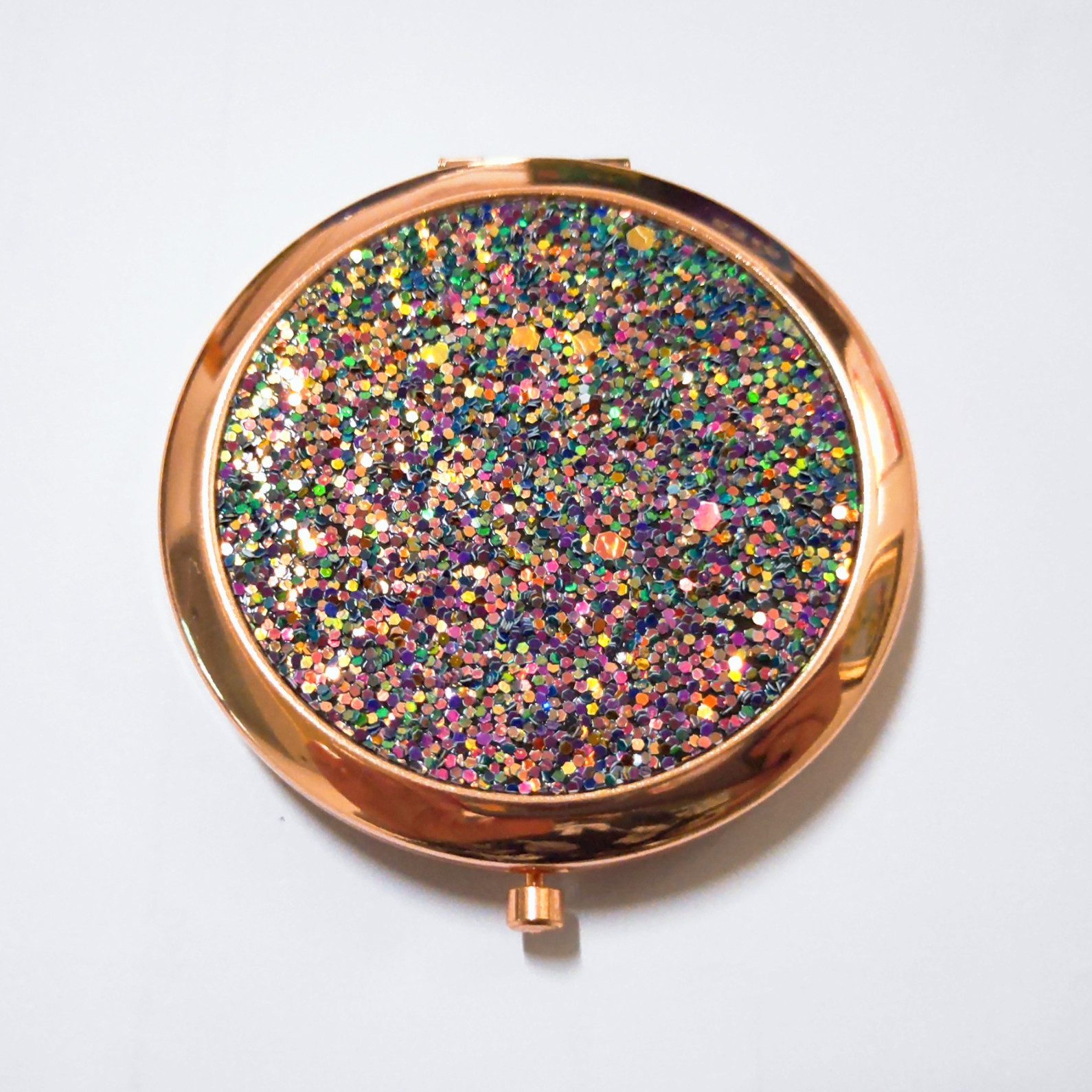 bling glitter deco compact mirror for travel girls make up