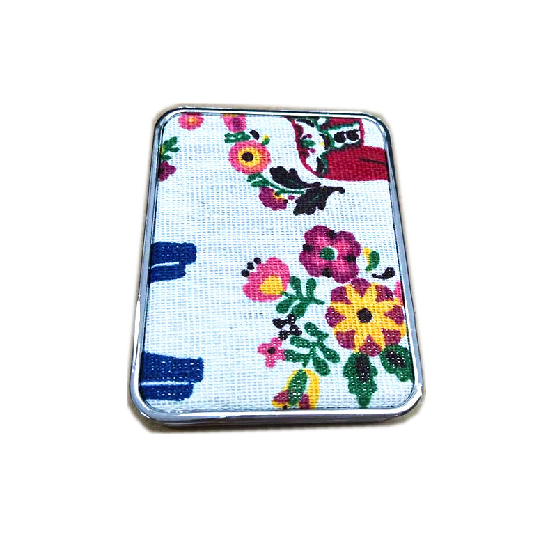 square personalized design compact mirror for near me makeup with printed cotton cloths
