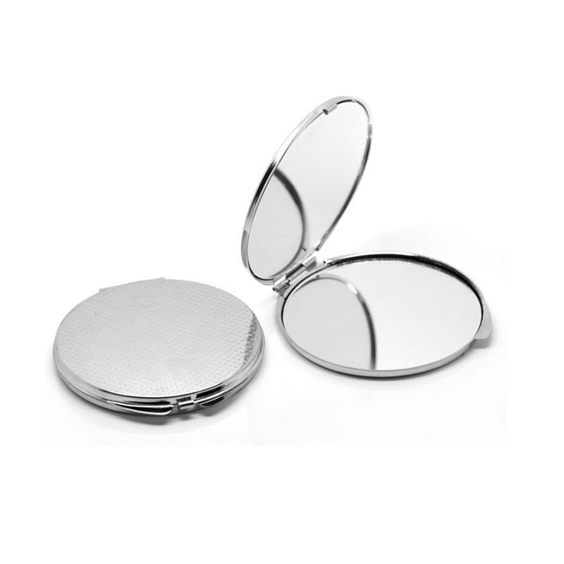 rounded compact mirror for custom design diy engraved icon on covers