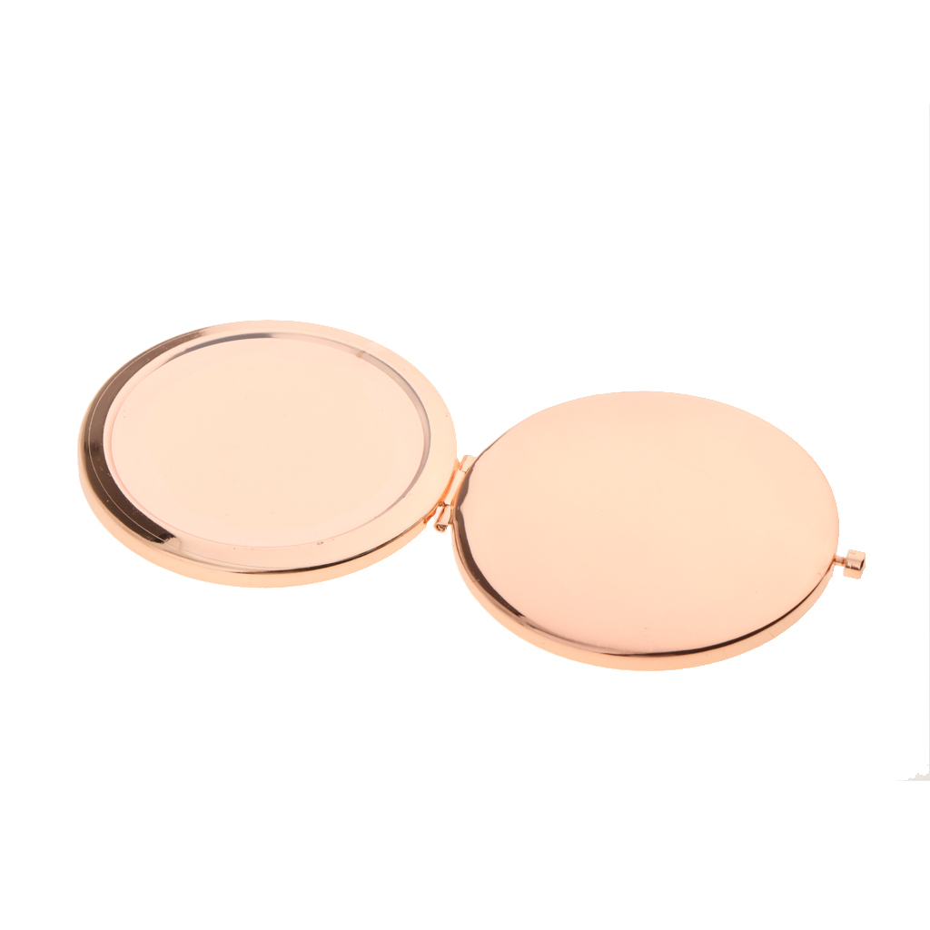 rose gold makeup mirror for custom design diy print on covers