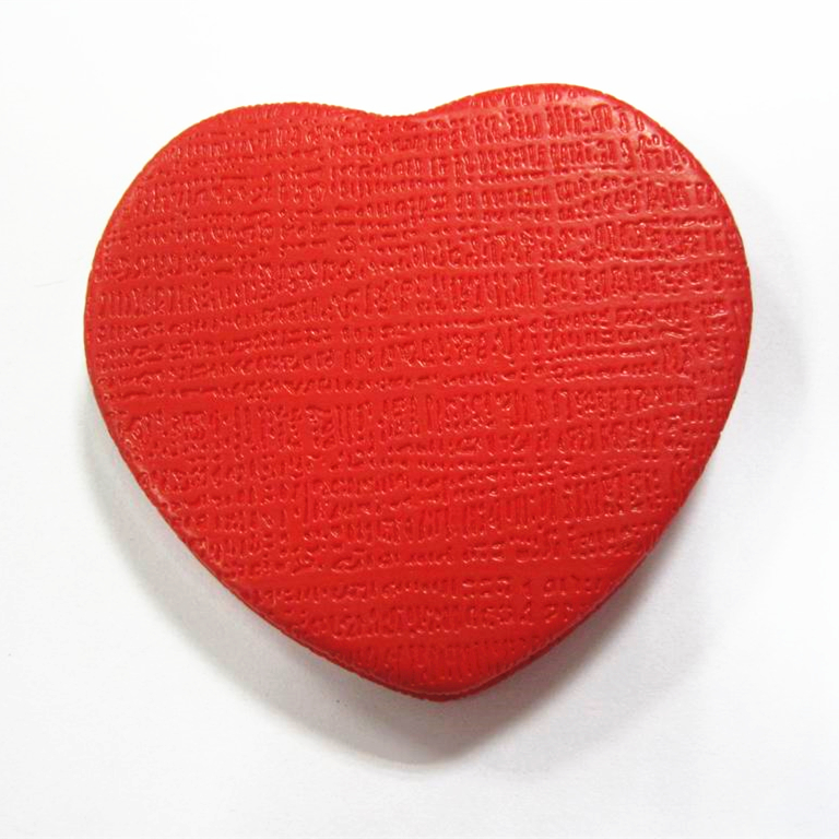 Sweet Heart Personalized Compact Mirror in Red PU Leather wrapped On Both Sides For Unique Business presents